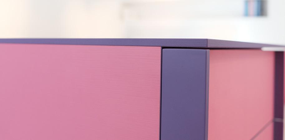 Comodino Juta rosa Flou Outlet | Flou Design shop Varese, | Comodini ...